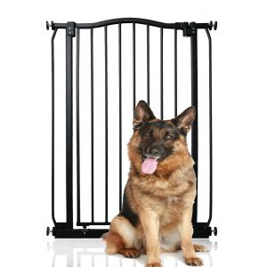 Bettacare Extra Tall Matt Black Curved Top Pet Gate 71cm - 80cm