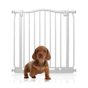Bettacare Matt White Curved Top Pet Gate 71cm - 80cm