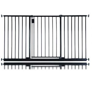 Bettacare Extra Wide Hallway Pet Gate Matt Black 146.6cm - 152.6cm