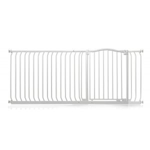 Bettacare Matt White Curved Top Pet Gate 180cm - 189cm
