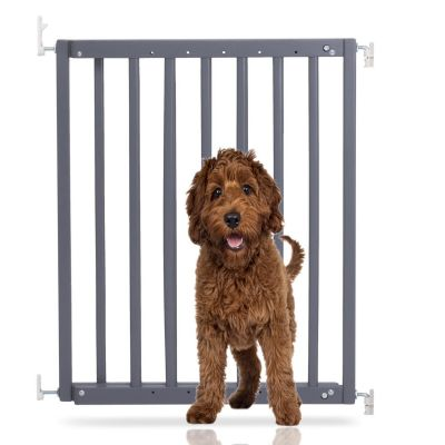 Bettacare Chunky Wooden Screw Fit Puppy Gate Grey 63.5cm - 105.5cm