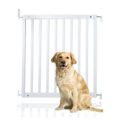 Bettacare Simply Secure Wooden Pet Gate White 72cm - 79cm