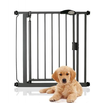 Bettacare Auto Close Pet Gate Slate Grey Standard 75cm - 82cm