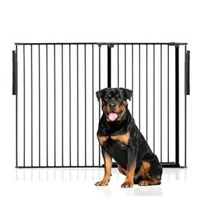 Bettacare Extra Tall Multi Panel Pet Barrier Black upto 144cm