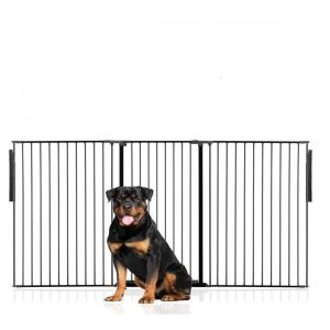 Bettacare Extra Tall Multi Panel Pet Barrier Black upto 216cm