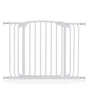 Arch Top Pressure Fit Dog Gate White 97cm - 106cm