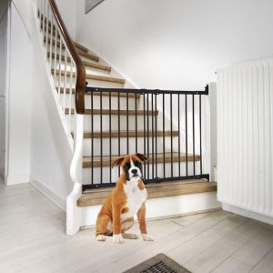 Bettacare Diagonal Fit Stair Pet Gate Black
