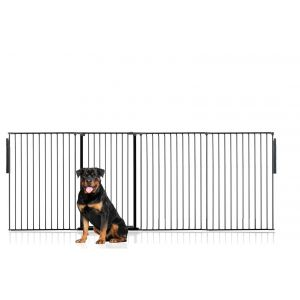 Bettacare Extra Tall Multi Panel Pet Barrier Black upto 288cm