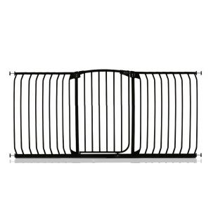 Arch Top Pressure Fit Pet Gate Black 187cm - 196cm