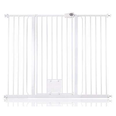 Bettacare Pet Gate with Lockable Cat Flap White 133.2cm - 140.8cm