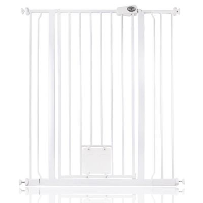 Bettacare Pet Gate with Lockable Cat Flap White 94.3cm - 101.9cm