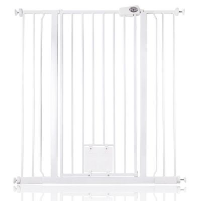 Bettacare Pet Gate with Lockable Cat Flap White 100.8cm - 108.4cm