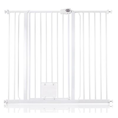 Bettacare Pet Gate with Lockable Cat Flap White 120.3cm - 127.9cm