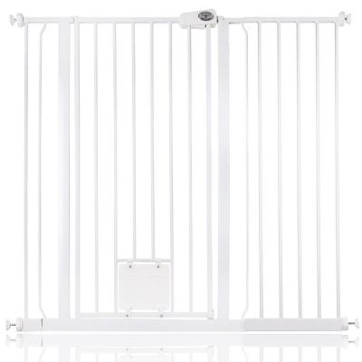 Bettacare Pet Gate with Lockable Cat Flap White 113.8cm - 121.4cm