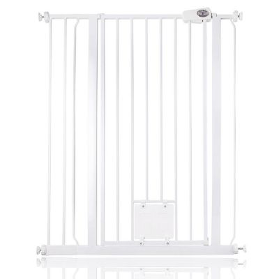 Bettacare Pet Gate with Lockable Cat Flap White 87.9cm - 95.5cm