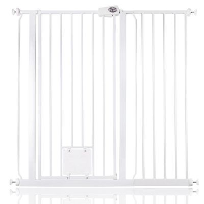 Bettacare Pet Gate with Lockable Cat Flap White 107.4cm - 115cm