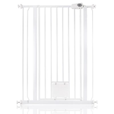 Bettacare Pet Gate with Lockable Cat Flap White 81.4cm - 89cm