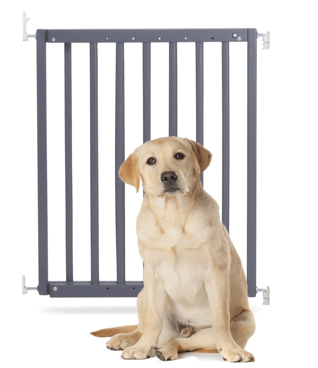 Bettacare Chunky Wooden Screw Fit Pet Gate Grey 63.5cm-105.5cm